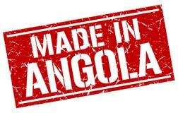 fait dans le timbre de l'Angola Photographie stock