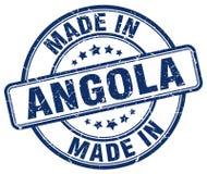 fait dans le timbre de l'Angola Photographie stock libre de droits