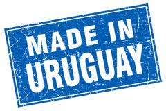Fait dans le timbre de l'Uruguay illustration stock