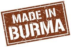 fait dans le timbre de la Birmanie illustration stock