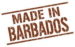 fait dans le timbre des Barbade Image libre de droits