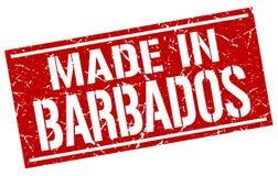 fait dans le timbre des Barbade Images stock