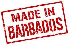 fait dans le timbre des Barbade Photos libres de droits