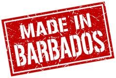 fait dans le timbre des Barbade Photos stock
