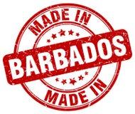 fait dans le timbre des Barbade Image stock