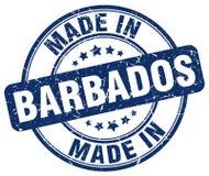 fait dans le timbre des Barbade Photo libre de droits