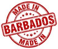 fait dans le timbre des Barbade Photographie stock libre de droits