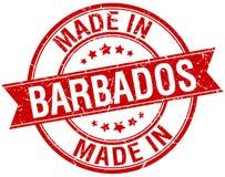 fait dans le timbre des Barbade Photographie stock