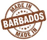 fait dans le timbre des Barbade illustration libre de droits