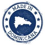 Fait dans le timbre Dominicana illustration de vecteur