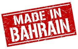 fait dans le timbre du Bahrain Photos stock