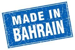 fait dans le timbre du Bahrain Illustration Stock