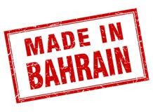 fait dans le timbre du Bahrain Illustration de Vecteur