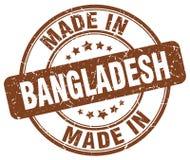 fait dans le timbre du Bangladesh Photo stock
