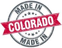 Fait dans le timbre du Colorado illustration stock