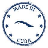 Fait dans le timbre du Cuba illustration stock