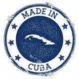 Fait dans le timbre du Cuba illustration de vecteur