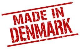 fait dans le timbre du Danemark Images stock