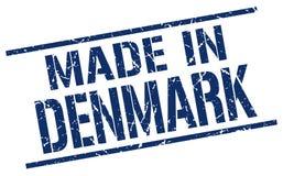 fait dans le timbre du Danemark Photos stock