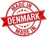 fait dans le timbre du Danemark Photo stock