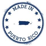 Fait dans le timbre du Porto Rico illustration libre de droits