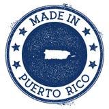 Fait dans le timbre du Porto Rico illustration de vecteur