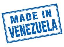 Fait dans le timbre du Venezuela Image stock