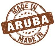 fait dans le timbre grunge de brun d'Aruba Image stock