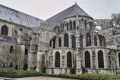 Fait du jardinage la cathédrale Notre-Dame de Reim Photographie stock