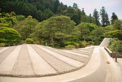 fait du jardinage le temple de ginkakuji Photographie stock
