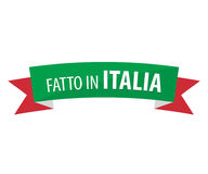 Fait en l'Italie - le Fatto en Italie Photo libre de droits