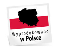 Fait en Pologne - Wyprodukowano W Polsce Photos stock