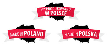 Fait en Pologne - Wyprodukowano W Polsce Photographie stock