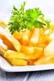Fait frire des pommes de terre Photo libre de droits