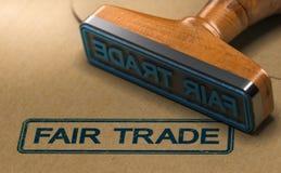 Fait-Handels-Aufkleber, ethische Verbraucherschutzbewegung vektor abbildung