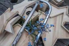 Fait main en bois Handcrafted Images stock