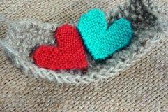 Fait main, knit, tricotant, passe-temps d'art, beau creatve images libres de droits