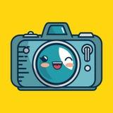 Fait main photographique de caractère d'appareil-photo dessiné Photo libre de droits