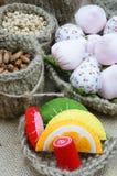 Fait main, vintage, fruit fabriqué à la main, fraise, art Image libre de droits