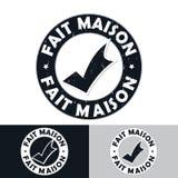 Fait Maison法语:做的家 图库摄影