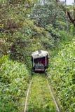 ` Fait maison de train de fantôme de ` fonctionnant sur les voies ferrées abandonnées photos libres de droits