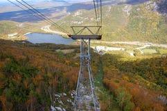 Faites écho le lac dans l'encoche de Franconia, Mountian blanc Images stock