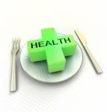 Faites attention ce qui vous mangez l'advetsisement rendez illustration libre de droits