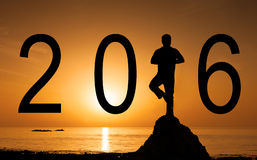 Faites bon accueil à la nouvelle année - 2016 Photographie stock