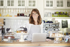 Faites bon accueil à mon café Image stock