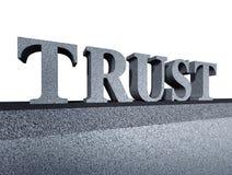 Faites confiance à l'intégrité financière de symbole d'affaires d'honneur Photo stock