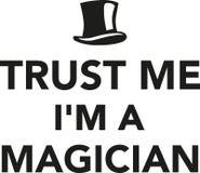 Faites- confiancemoi le ` m d'I un magicien illustration de vecteur