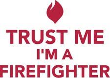 Faites- confiancemoi le ` m d'I un sapeur-pompier illustration libre de droits