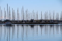 Faites de la navigation de plaisance la marina Photo stock