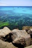 faites de la navigation de plaisance le bateau de l'Espagne à Arrecife teguise Lanzarote Photographie stock libre de droits